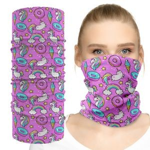 Face Mask Tube Neck Gaiter With Colorfull Custom Graphic Dye Sublimation Print